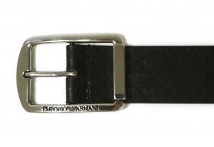 No.3 ベルト イーグルロゴ (ブラック)95cm 長さ調整不可 エンポリオアルマーニ