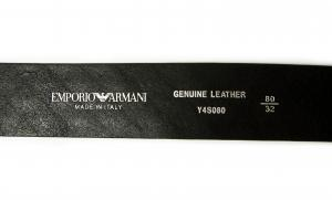 No.5 ベルト イーグルロゴ (ブラック)95cm 長さ調整不可 エンポリオアルマーニ