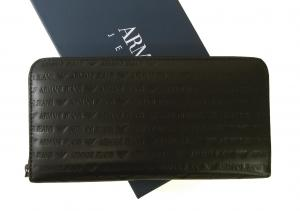アルマーニジーンズ  長財布 オーガナイザー トラベル *大きめサイズ (ブラック)