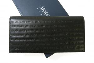 No.2 ジーンズ 長財布 二つ折 レザー メンズ (ブラック)
