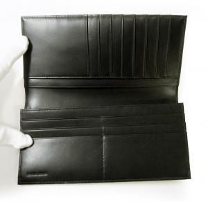 No.4 ジーンズ 長財布 二つ折 レザー メンズ (ブラック)