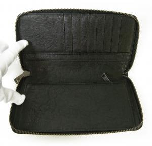 No.6 ジーンズ 長財布 ファスナー メンズ *大きめサイズ (ブラック)