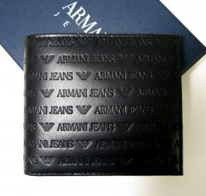アルマーニ ジーンズ 財布 二つ折 レザー メンズ (ブラック) MainPhoto