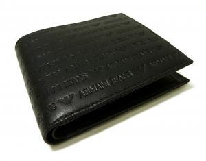 No.3 ジーンズ 財布 二つ折 レザー メンズ (ブラック)