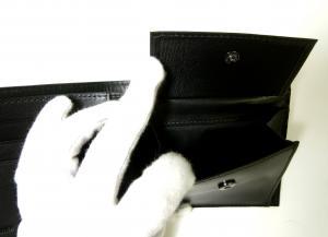 No.6 ジーンズ 財布 二つ折 レザー メンズ (ブラック)