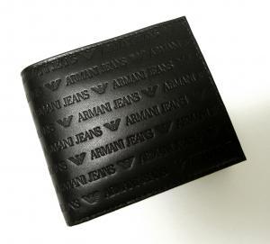 No.7 ジーンズ 財布 二つ折 レザー メンズ (ブラック)