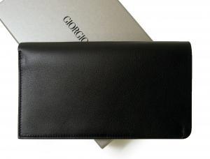 No.2 長財布 二つ折 (ブラック) ジョルジオアルマーニ
