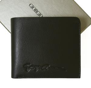 ジョルジオアルマーニ 財布 二つ折 (ブラック)