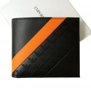 エンポリオアルマーニ 財布 二つ折 (ミッドナイトブルー)