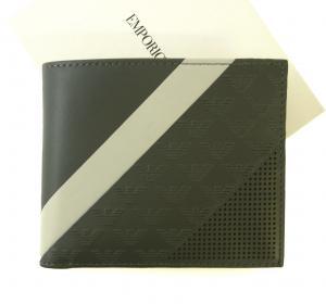 エンポリオアルマーニ 財布 二つ折 (グリーンがかったグレー)
