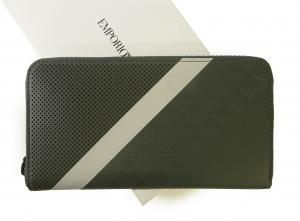 アルマーニ 長財布 ラウンドファスナー (グリーンがかったグレー) エンポリオアルマーニ MainPhoto