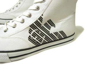 No.5 スニーカー シューズ 靴 ハイカット 7.5(日本サイズ約25.5cm) (ホワイト) EA7 メンズ