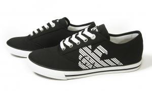 No.4 スニーカー メンズ シューズ 靴 8サイズ(日本サイズ約26cm)(ブラック) エンポリオアルマーニ EA7