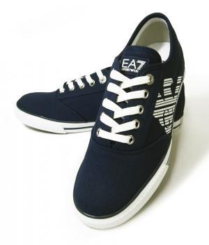 アルマーニ スニーカー メンズ シューズ 靴 7.5(日本サイズ約25.5cm) (ネイビーブルー) EA7