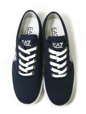 No.3 スニーカー メンズ シューズ 靴 7.5(日本サイズ約25.5cm) (ネイビーブルー) EA7