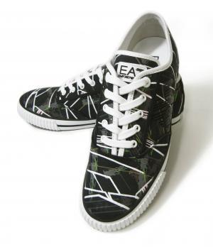 アルマーニ スニーカー メンズ シューズ 靴 (ブラック)  エンポリオアルマーニ EA7