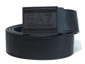 アルマーニ ベルト リバーシブル (ブラック×ダークブルー) 長さ調整可能 EA7