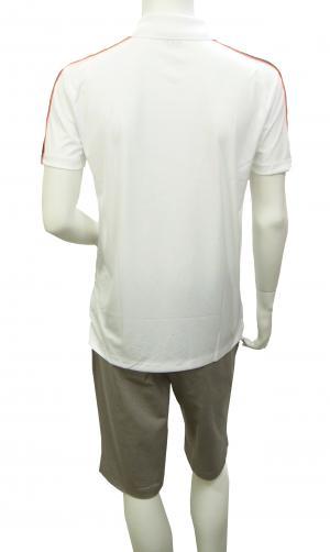 No.6 ポロシャツ ホワイト メンズ ゴルフ エンポリオアルマーニ EA7