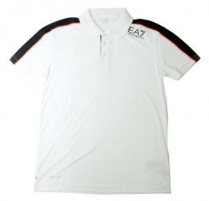 アルマーニ ポロシャツ ホワイト メンズ ゴルフ エンポリオアルマーニ EA7
