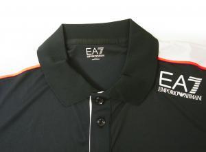 No.2 ポロシャツ 黒に近いブルー メンズ ゴルフ XLサイズ エンポリオアルマーニ EA7