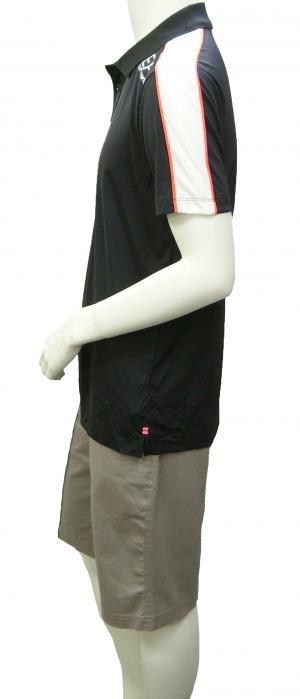 No.5 ポロシャツ 黒に近いブルー メンズ ゴルフ XLサイズ エンポリオアルマーニ EA7