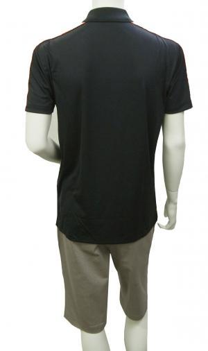 No.6 ポロシャツ 黒に近いブルー メンズ ゴルフ XLサイズ エンポリオアルマーニ EA7