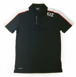 エンポリオアルマーニ <訳あり・アウトレット>ポロシャツMサイズ 黒に近いブルー メンズ ゴルフ  EA7