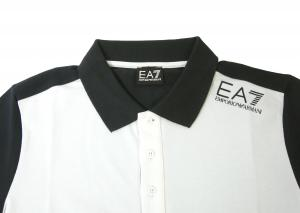 No.2 ポロシャツ ホワイト メンズ ゴルフ エンポリオアルマーニ EA7