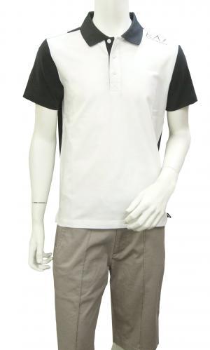 No.3 ポロシャツ ホワイト メンズ ゴルフ エンポリオアルマーニ EA7