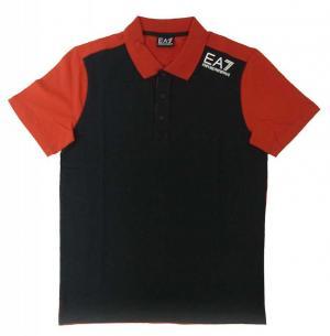 エンポリオアルマーニ ポロシャツ 黒に近いブルー メンズ ゴルフ  EA7