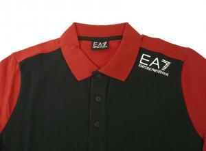 No.2 ポロシャツ 黒に近いブルー メンズ ゴルフ エンポリオアルマーニ EA7