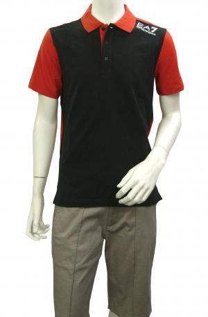 No.4 ポロシャツ 黒に近いブルー メンズ ゴルフ エンポリオアルマーニ EA7