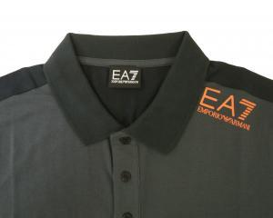 No.2 ポロシャツ ダークグレー メンズ ゴルフ Mサイズ エンポリオアルマーニ EA7