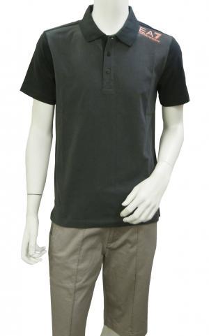 No.3 ポロシャツ ダークグレー メンズ ゴルフ Mサイズ エンポリオアルマーニ EA7