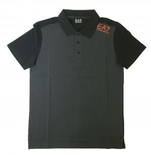 No.2 ポロシャツ ダークグレー メンズ ゴルフ Sサイズ エンポリオアルマーニ EA7
