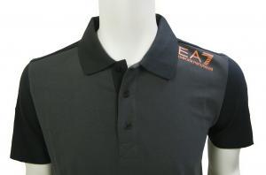 No.3 ポロシャツ ダークグレー メンズ ゴルフ Sサイズ エンポリオアルマーニ EA7