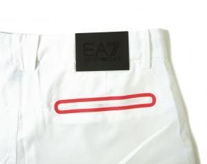 No.3 ハーフパンツ ホワイト バミューダ ゴルフ用 エンポリオアルマーニ EA7