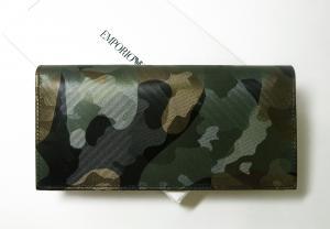 No.2 長財布 二つ折り(迷彩 グリーン) エンポリオアルマーニ