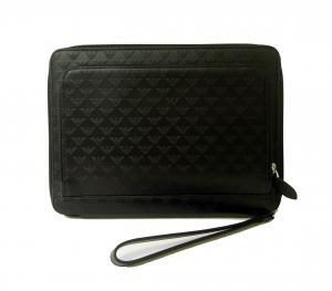 アルマーニ タブレットケース セカンドバッグ クラッチ ポーチ(ブラック)