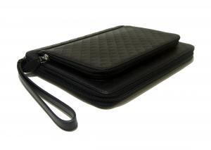 No.4 タブレットケース セカンドバッグ クラッチ ポーチ(ブラック)