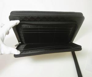 No.6 タブレットケース セカンドバッグ クラッチ ポーチ(ブラック)