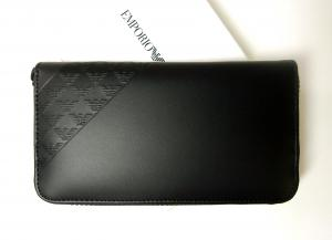 No.2 長財布 ラウンドファスナー(ブラック) エンポリオアルマーニ