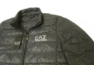 No.6 ダウンジャケット ライトダウン Mサイズ エンポリオアルマーニ EA7 (ダークグレー)