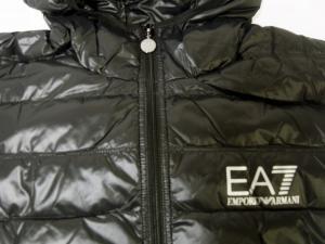 No.6 ダウン ジャケット フード ライトダウン XLサイズ エンポリオアルマーニ EA7