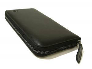 No.3 長財布 ラウンドファスナー(ブラック)*大きめサイズ ジョルジオアルマーニ