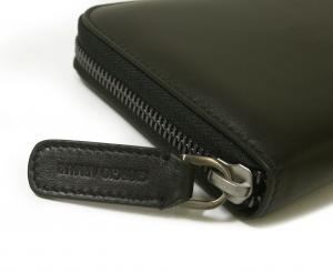 No.4 長財布 ラウンドファスナー(ブラック)*大きめサイズ ジョルジオアルマーニ