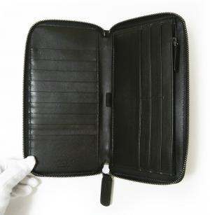 No.5 長財布 ラウンドファスナー(ブラック)*大きめサイズ ジョルジオアルマーニ