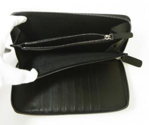 No.7 長財布 ラウンドファスナー(ブラック)*大きめサイズ ジョルジオアルマーニ