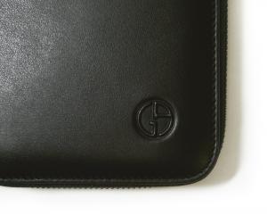 No.8 長財布 ラウンドファスナー(ブラック)*大きめサイズ ジョルジオアルマーニ