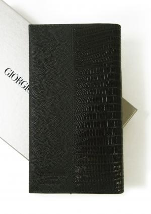アルマーニ 長財布 長札 二つ折 (ブラック)*小銭入れなし ジョルジオアルマーニ  MainPhoto